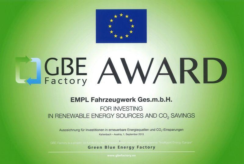 GBE Factory Award